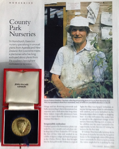 Graham Article and Chelsea Medal